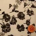スムースニット花柄プリント生地