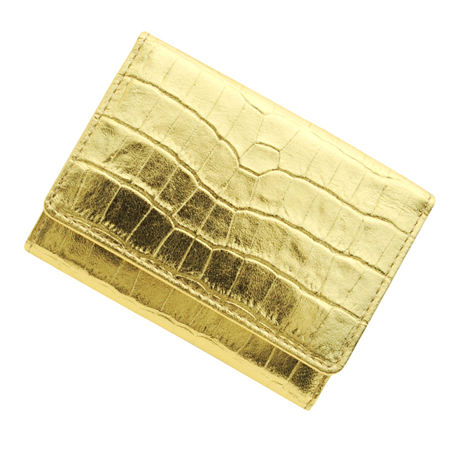 極小財布クロコ型押し