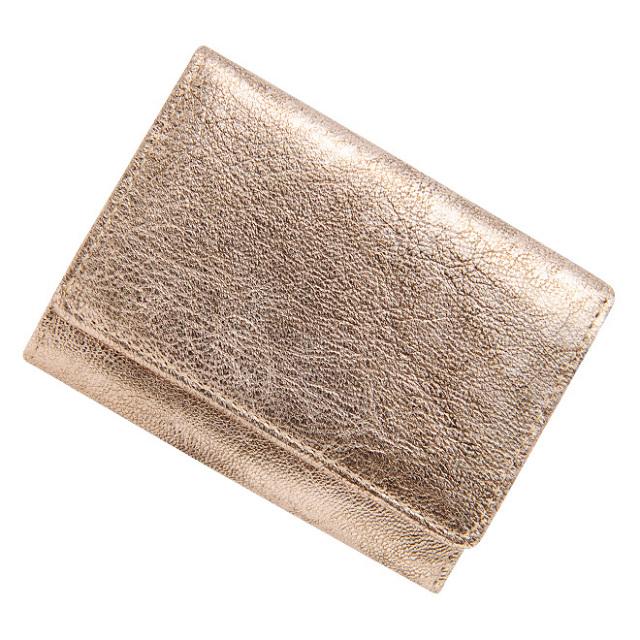 極小財布ゴートスキンメタリックアンティーク