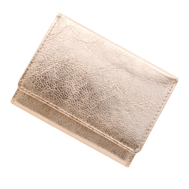 【送料無料】 極小財布 ゴートスキン メタリックピンク ベーシック型小銭入れ BECKER(ベッカー) 日本製