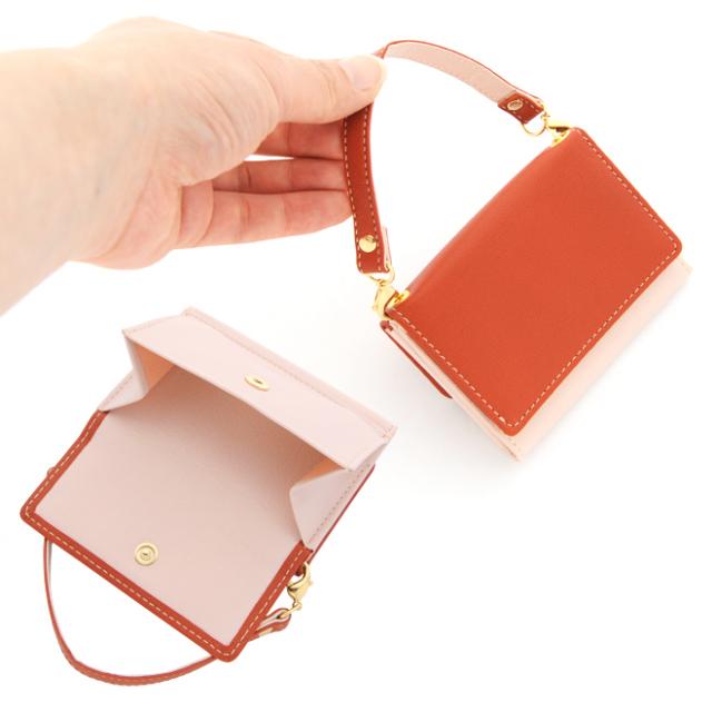 極小財布 ゴートスキンバイカラー