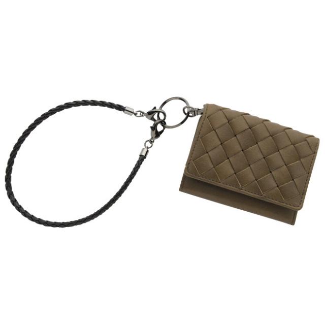 極小財布 メッシュ オイルレザー