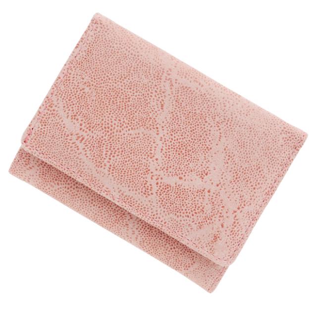極極小財布 ピッグスエード(エレファントライトピンク)ベーシック型小銭入れ BECKER(ベッカー)日本製