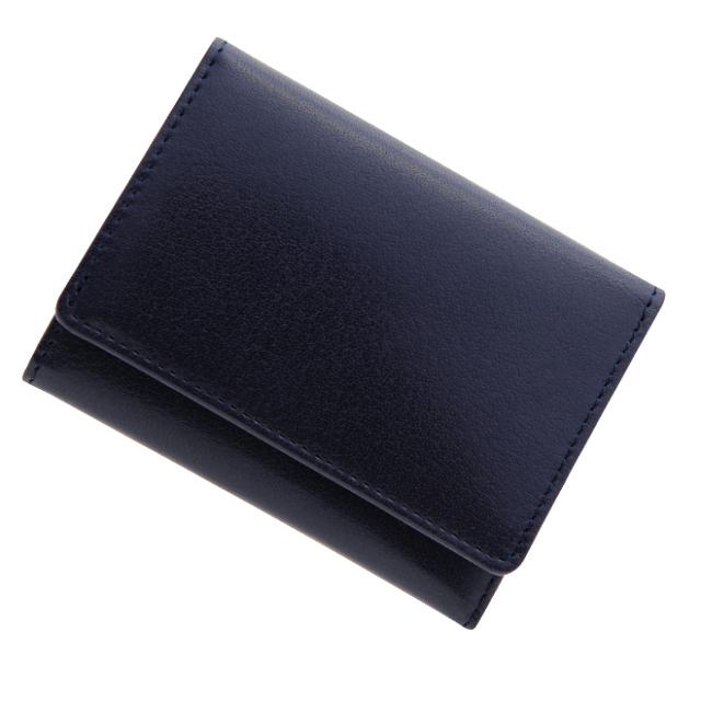 【送料無料】 極小財布 バッファローレザー(ネイビー)ベーシック型小銭入れ 水牛革 BECKER(ベッカー)日本製