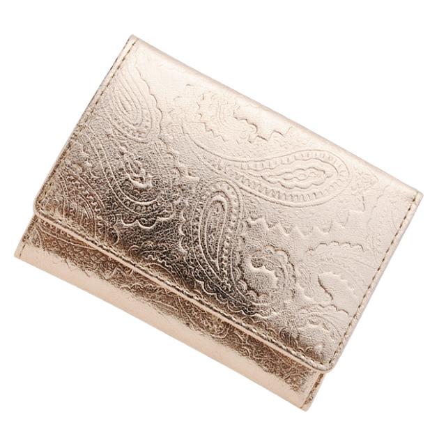 極小財布メタリックペイズリー ピンク BECKER(日本製)