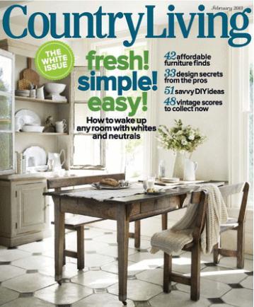 Country Living/カントリーリビング(洋雑誌 年間購読680円x10冊)