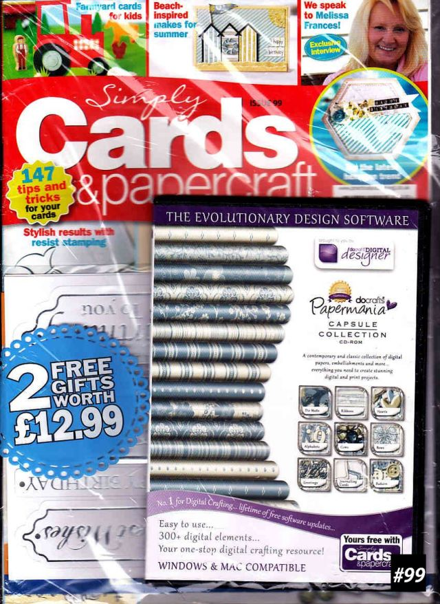 【単号】Simply Cards & Papercraft(シンプリーカード&ペーパークラフト)#99 イギリス洋雑誌  [US] [単品][送料無料]