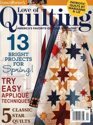 Fons&Porter's Love of Quilting /キルト雑誌 (アメリカ海外雑誌 定期購読1382円x6冊)
