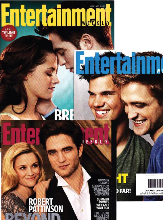 【単号】Entertainment Weekly/Twilight/トワイライト表紙 3冊セット洋雑誌  [US] [単品][送料無料][コレクターズ]