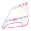 【日本製】【女の子向け】 透明・防水 ランドセルカバー リボン付 反射テープ付 ピンク