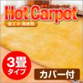 【電磁波99%カット】 ホットカーペット 3畳用カバー付 ZC-30K