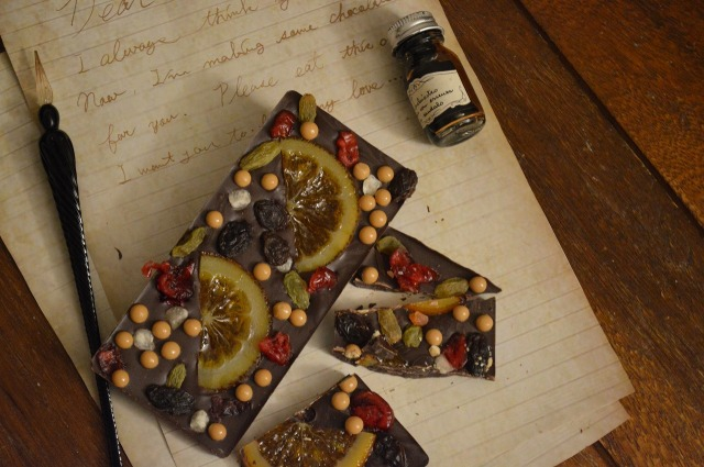 tablet chocolat fruits