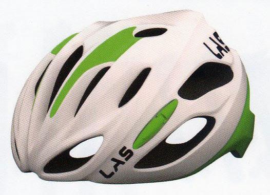 LAS KOBALTO(ラス コバルト) ヘルメット ホワイトグリーン