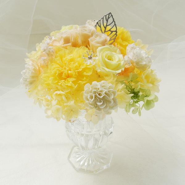 オフィス装花 オフィスに飾る花 プリザーブドフラワーアレンジ