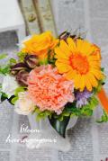 結婚式のフラワー電報 母の日に!ガーベラのナチュラルアレンジ