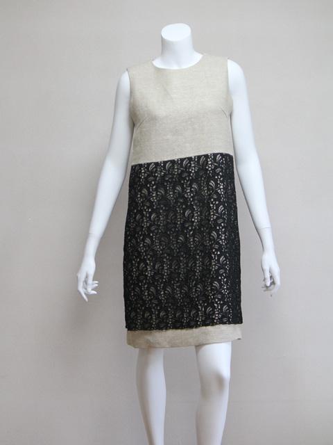 Style NO.gal-042 ブラックレース&リネン (ショート&ハイウェスト)