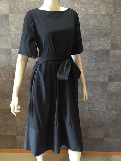 Style No gal-110  5分袖ネイビーコットンワンピース