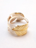 Authentic Feather Ring-SILVER×GOLD-