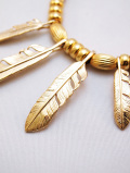 "【先行予約6月入荷商品】Feather Hook Charm""LARGE""-GOLD-"