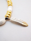 "【先行予約6月入荷商品】Feather Hook Charm""SMALL""-SILVER×GOLD-"
