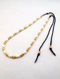 【先行予約6月入荷商品】Pipe Beads Necklace-SILVER×GOLD-