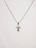 【メール便可】Cross Amulet Necklace-SILVER-
