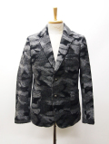 Wool Camouflage Tailor Jacket-GRAY-