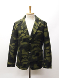 Wool Camouflage Tailor Jacket-OLIVE-