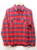 Heavy Twill Check Shirts-RED-
