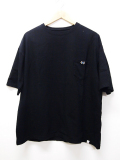 Over Silhouette Tee-BLACK-