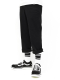 Cropped Chino Slax-BLACK-