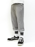 Cropped Chino Slax-GRAY-