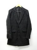 Wool Tweed Chester Court-CHACOAL-