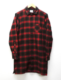 Western Long Check Coat-RED-