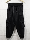 Army Cargo Jogger Pants-BLACK-