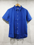 Gingham Check S/S Shirts-BLUE-
