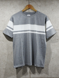 Panel Border Tee-GRAY-
