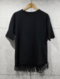 Fringe Edge Tee-BLACK-