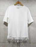 Fringe Edge Tee-WHITE-