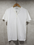 Henley neck Pigment Tee-OFF WHITE-