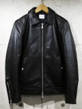 Single Leather Collared Jacket