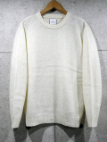 Crew Neck Knit Sweater-OFF WHITE-