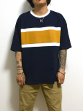 Rugger Border Cut Sawn/ラガーボーダーカットソー-NAVY-