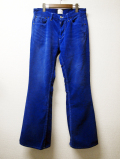 "Bell Line Corduroy Pants ""UNIVERSAL""-Blue"