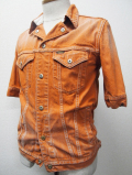 H/S Color Denim G-Jacket-Orange