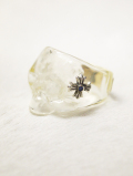 【INNER DAGGER】 RESIN SKULL RINGーCLEAR