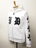 【INNER DAGGER】 ZIP UP PU LEATHER' DAGGER PARKA-White