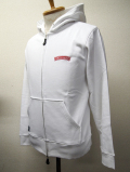 【INNER DAGGER】 WING SKULL ZIP UP PARKA-WHITE