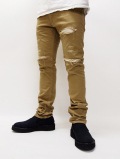 Clash Heavy Twill Skinny Trousers-BEIGE-