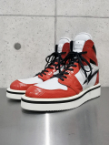 Test Product Hi-cut Leather Sneaker Boots -RED-